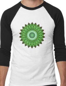 Pleasure Green Men's Baseball ¾ T-Shirt