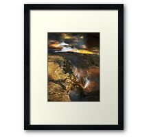 Water + Rock Framed Print
