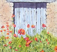 Old Barn Door, Chez Bourret, France by FranEvans