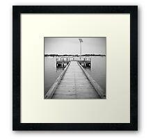 Pinhole jetty Framed Print