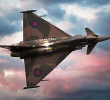 Battle of Britain Typhoon at Sunset by © Steve H Clark Photography