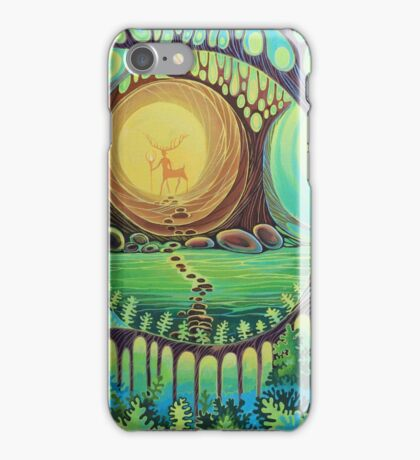 Fantasy creatures. Magic wood illustration.  iPhone Case/Skin