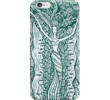 Woman in harmony with nature.  iPhone Case/Skin