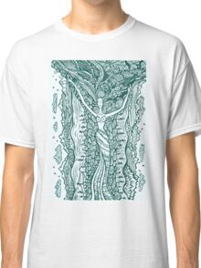 Woman in harmony with nature.  Classic T-Shirt