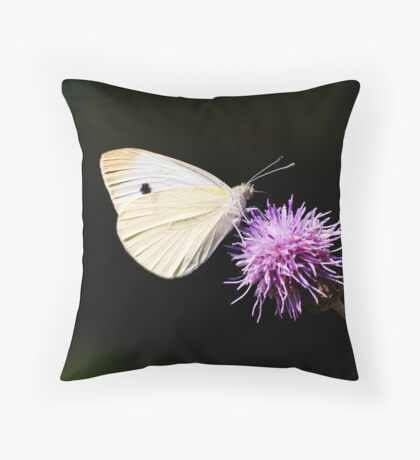 CABBAGE BUTTERFLY - remake Throw Pillow