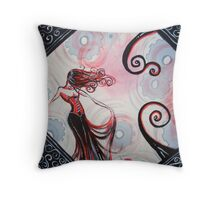 Red Lady Throw Pillow
