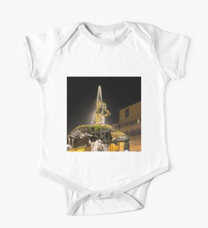 Rome's Fabulous Fountains – Triton Fountain at Night One Piece - Short Sleeve