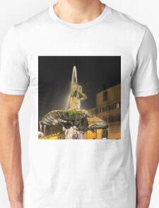 Rome's Fabulous Fountains – Triton Fountain at Night Unisex T-Shirt