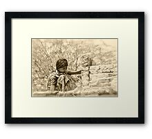 demolition girl Framed Print