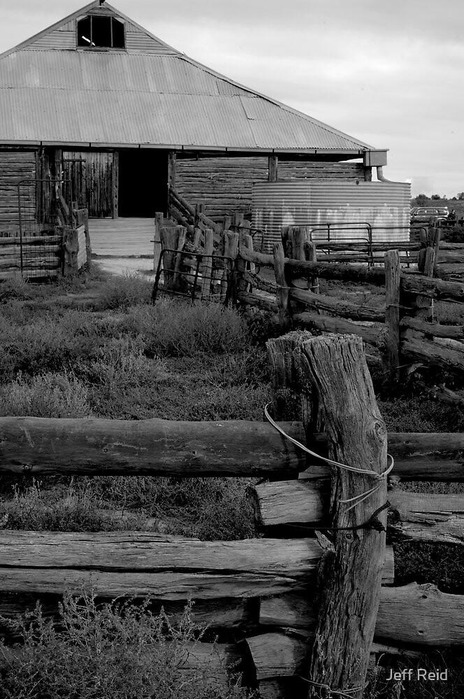 Mungo Woolshed 2 by Jeff Reid