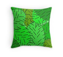 Crowded Cacti Throw Pillow