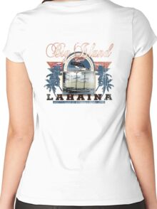 lahaina hawaii Women's Fitted Scoop T-Shirt