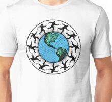 Disc Golfing Planet Earth Unisex T-Shirt