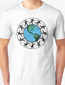 Disc Golfing Planet Earth T-Shirt