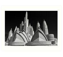 Sand Sculpture - Franston Beachfront Art Print
