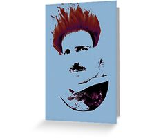 Nicola Tesla Punk Tea Greeting Card