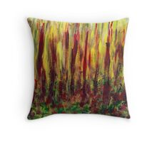 Burning Forest  Throw Pillow