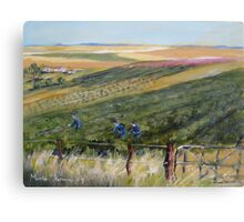 Workers in the vineyard Canvas Print