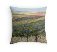 Workers in the vineyard Throw Pillow