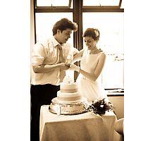 Cake Cutting Scene Photographic Print