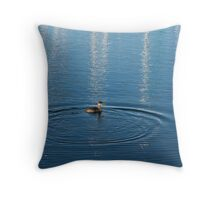 Ripples and Circles – Red-Necked Grebe Throw Pillow