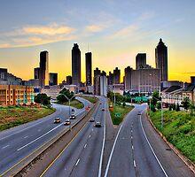 Atlanta skyline at dusk by RyanMurphy