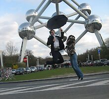 Jumping in Brussel by hanie