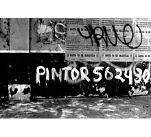 Pintor Tags Peru! Photographic Print