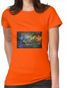Blue moon... Womens Fitted T-Shirt