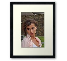 Aideen by the Theatre Again Framed Print