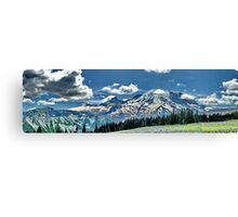Mt Rainier Summer Panoramic Canvas Print