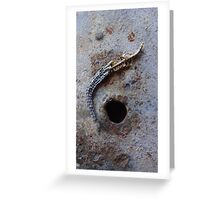 Remains of the Lizard King n°1 Greeting Card