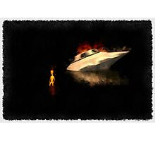 UFO - Death of an Alien by Raphael Terra Photographic Print