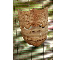 wooden mask Photographic Print