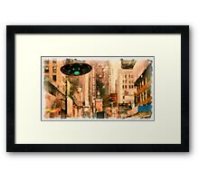 UFO - In The City by Raphael Terra Framed Print