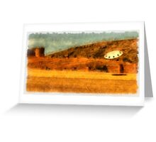 UFO - Searching by Raphael Terra Greeting Card