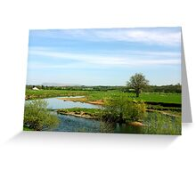 River Ribble, Ribchester Greeting Card