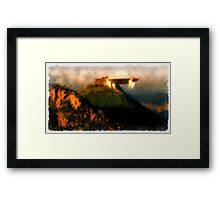 UFO - Coming Down by Raphael Terra Framed Print