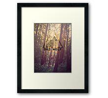 Wolf on Woods Framed Print