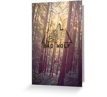 Wolf on Woods Greeting Card