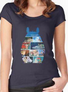 Totoro-Hayao Miyazaki Films Women's Fitted Scoop T-Shirt