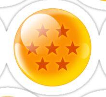 dragon ball z balls anime manga shirt Sticker