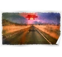 UFO - On the Road by Raphael Terra Poster