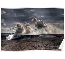 Mauna Loa Volcano - HDR Poster