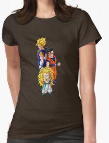 gotenks gohan vegito gogeta anime manga shirt Womens Fitted T-Shirt