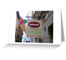 The Pink Cadillac Ice Cream Shop Greeting Card