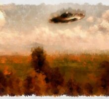 UFO - In The Countryside by Raphael Terra by esotericaart