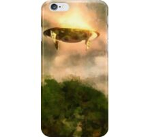 UFO - Over London by Raphael Terra iPhone Case/Skin