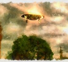 UFO - Over London by Raphael Terra by esotericaart