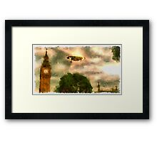 UFO - Over London by Raphael Terra Framed Print